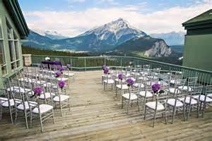 island wedding venues an mountaintop wedding in banff weddingbells