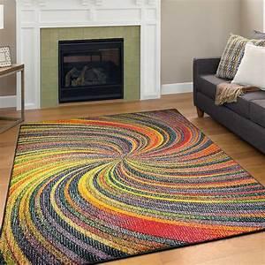 Extra, Large, Geometric, Rug, Spiral, Rainbow, Colours, Geometric, Design, Area, Carpets