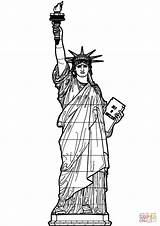 Liberty Statue Coloring Printable Pages Supercoloring Print Drawing Dot sketch template