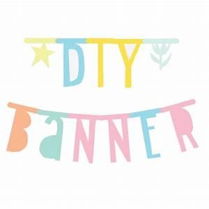 Diy letter banner pastel karton kidsdinge cadeautjes for Diy letter banner