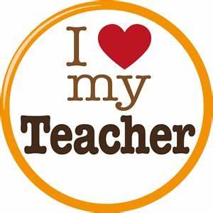 "I Love My Teacher Slogan Car Bumper Sticker Decal 5"" x 5 ..."