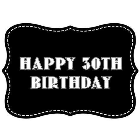 Happy 30th Birthday Images Happy 30th Birthday Vintage Style Photo Booth Prop