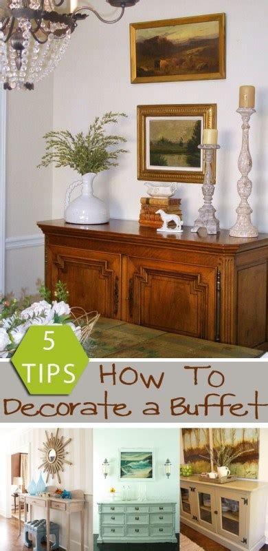 How To Decorate A Credenza by Remodelaholic How To Decorate A Buffet