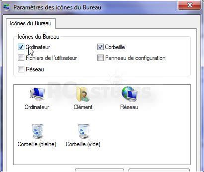 icones bureau windows 7 ajouter ou retirer des icônes système du bureau windows 7