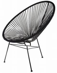 Fauteuil Fil Scoubidou : fauteuil acapulco scoubidou noir la chaise longue home ~ Teatrodelosmanantiales.com Idées de Décoration