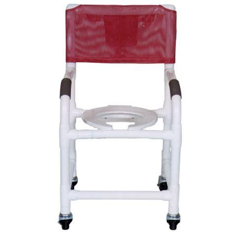 pvc shower chair 18 5x1 1 4 heavy duty casters all lock