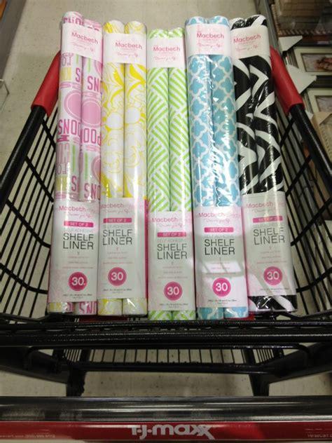 cutest shelf liners  organizing    tjmaxx