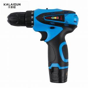 Kalaidun 12v Mobile Electric Drill Power Tools Electric Screwdriver Lithium Battery Cordless