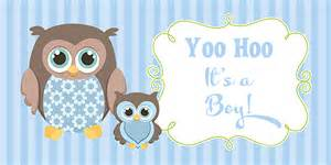 bridal guest book owl boy baby shower banner