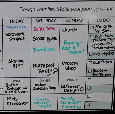 By Design Peel & Stick Whiteboard Weekly Calendar - By Design