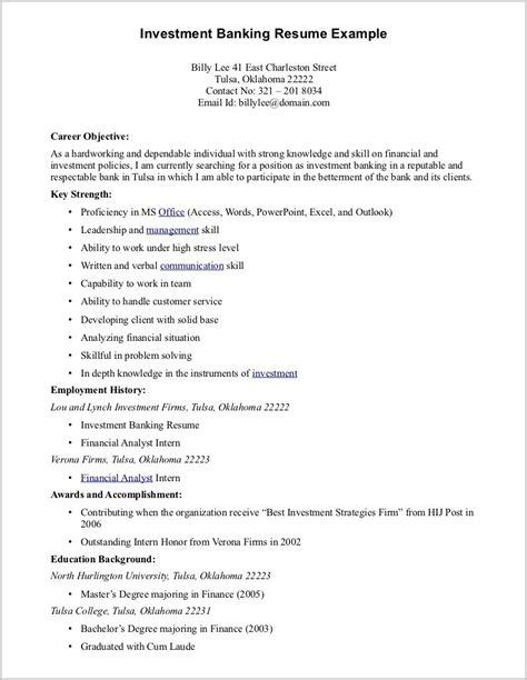resume format for bpo resume template sle