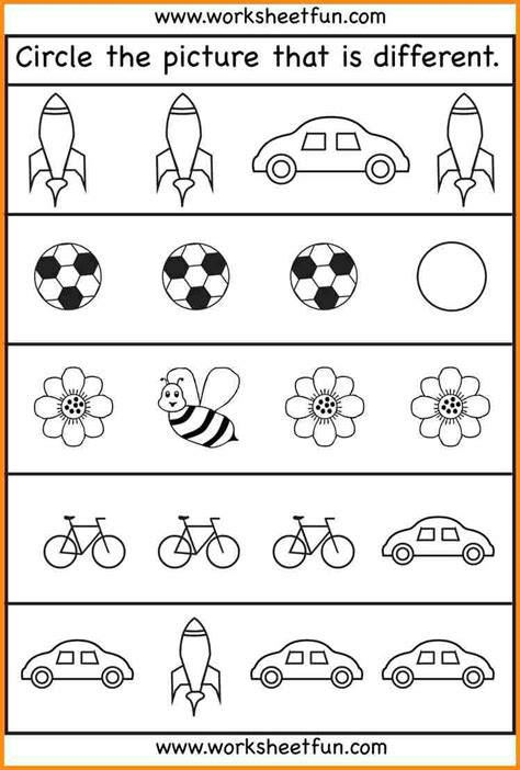 worksheets for 4 year olds kidz activities