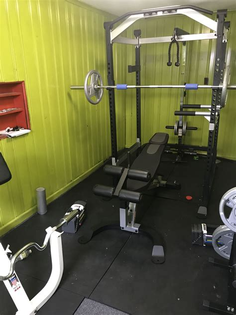 pin  mike jr  garage gym home gym design gym room container house