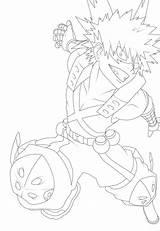 Bakugo Katsuki Drawing Drawings Eye Anime Lineart Sketches sketch template