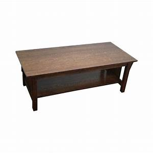 stickley solid oak mission style coffee table chairish With solid wood mission style coffee table