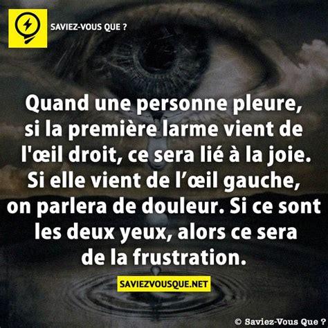 si e social l oeil quand une personne pleure si la première larme vient de l