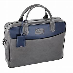 st dupont line d grey blue duotone leather document With document carrier