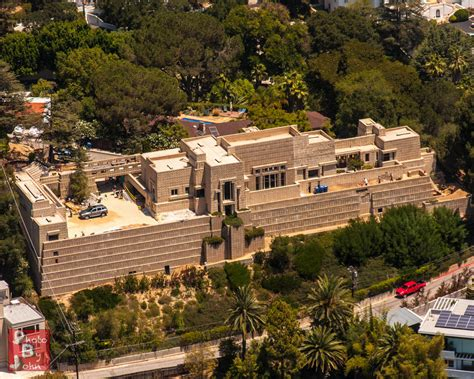 frank lloyd wright style home plans ennis house the southern side of the ennis house