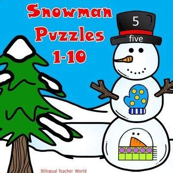 snowman number puzzles    images fun math