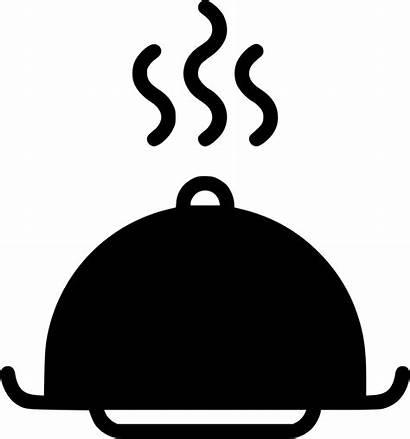 Icon Dinner Tray Dish Platter Restaurant Svg