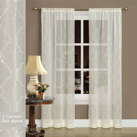ivory semi sheer curtains by