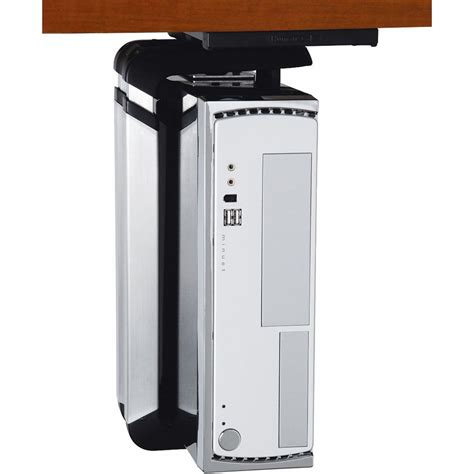 humanscale desk cpu holder humanscale cpu600 desk mount cpu holder