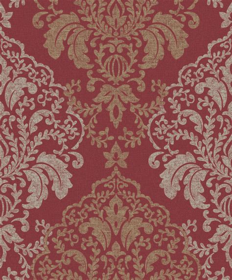 red damask wallpaper uk gallery