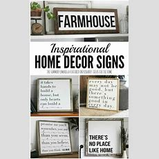 Inspirational Home Decor Signs Rustic And Modern