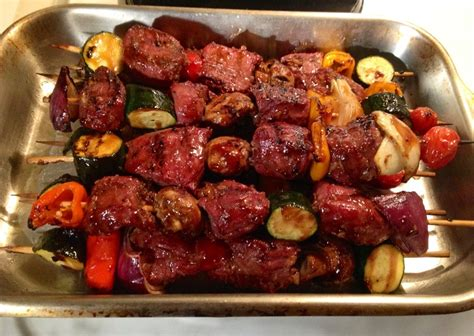 what to grill tonight treager grilled marinated elk kabobs it s what s on the grill tonight pinterest kabobs