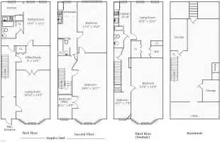 rowhouse floor plans find house plans - Row House Floor Plan