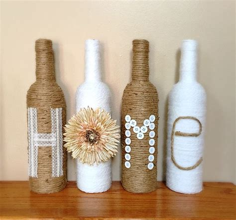 Decorative Wine Bottles Ideas by 25 Great Ideas About Wine Bottle Decorations On