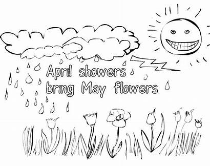 Coloring April Pages Showers Flowers Spring Bring