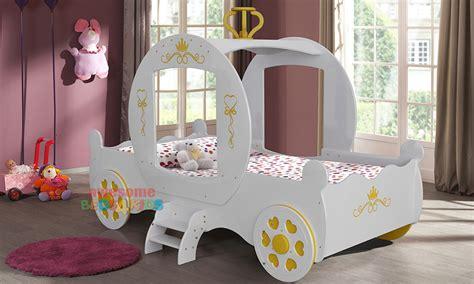 white royal princess carriage car bed princess bed
