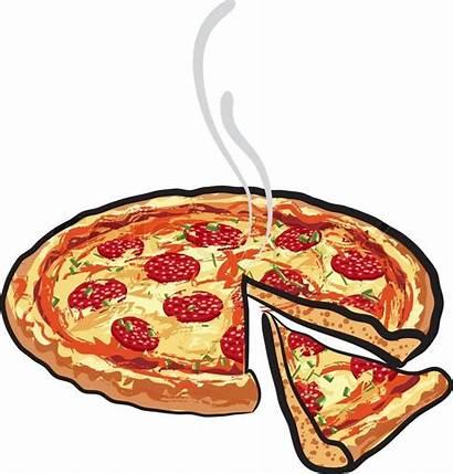 Pizza Cartoon Slice Pepperoni Cut Salami Clipart