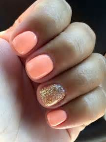 Summer nail designs for gold glitter nails