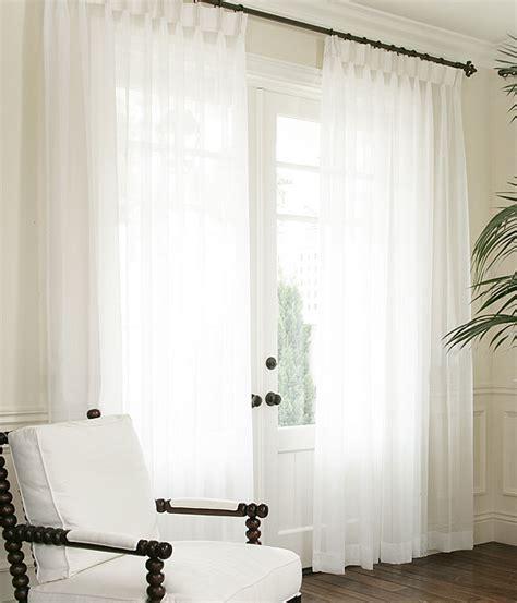 Patio Door Treatments Ideas by Custom Voile Drapery Drapestyle Com