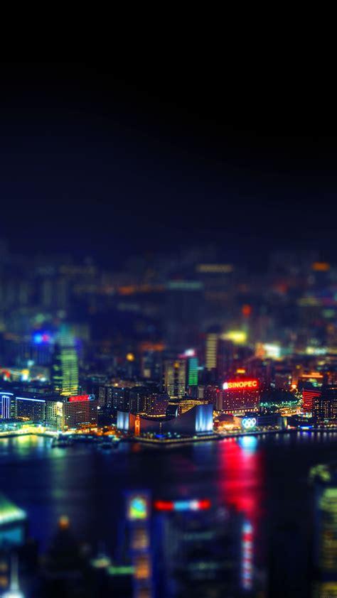 hongkong night cityscapes lights papersco