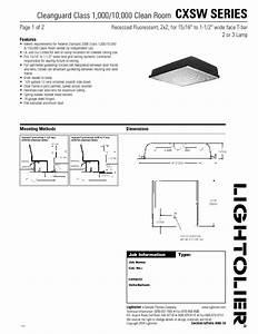 Recessed Fluorescent Cxsw-series2x2 Manuals
