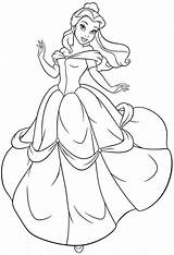 Princess Coloring Belle Pages Print sketch template