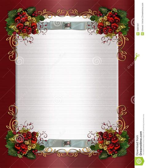 christmas or winter wedding border royalty free stock
