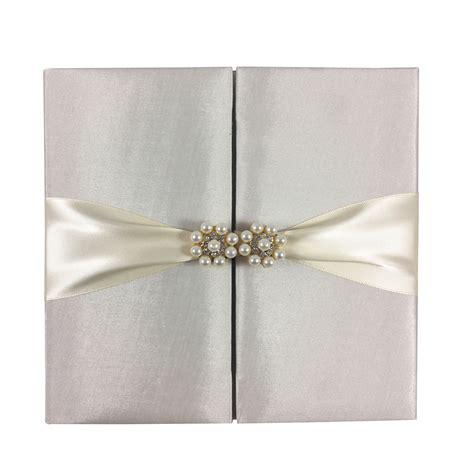 ivory folio invitation  wedding featuring gold plated