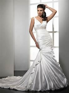 mermaid wedding dresses dressed up girl With satin mermaid wedding dress