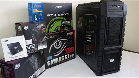 intel   gtx  ti  gaming pc build benchmark