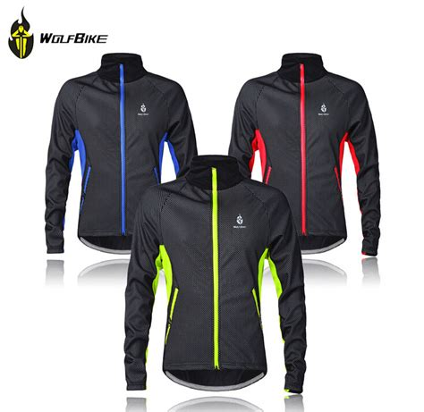 bicycle jacket mens wolfbike mens winter cycling jackets windproof bike
