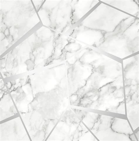 Fine Decor Fractal Marble Wallpaper Fd42263 Silver