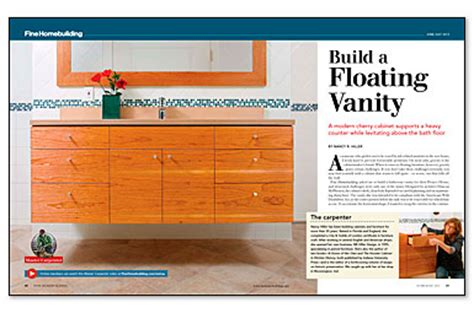 Installing Floating Vanity by Series How To Build A Floating Vanity