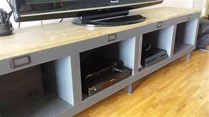 Meuble Industriel Ikea : une banquette diy avec kallax ~ Teatrodelosmanantiales.com Idées de Décoration