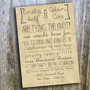 printable wedding invitation hand drawn rustic casual With wedding invitation language casual