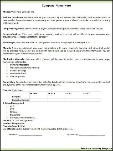 executive summary request form produtividade executiva