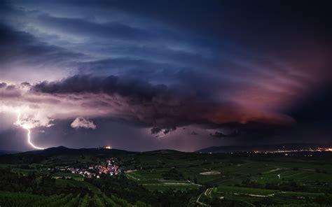 purple cloud super storm wallpapers  images